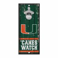Miami Hurricanes Wood Bottle Opener