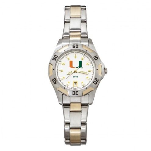Miami Hurricanes Women's All-Pro Two-Tone Watch