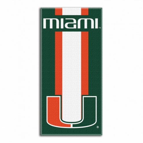 Miami Hurricanes Zone Read Beach Towel