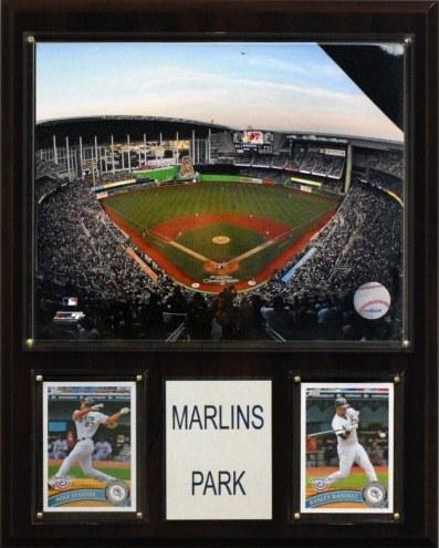 "Miami Marlins 12"" x 15"" Marlins Park Stadium Plaque"