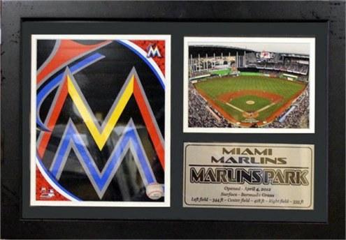 "Miami Marlins 12"" x 18"" Photo Stat Frame"