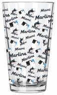 Miami Marlins 16 oz. All Over Print Pint Glass