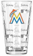 Miami Marlins 16 oz. Sandblasted Pint Glass