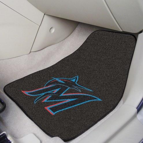 Miami Marlins 2-Piece Carpet Car Mats