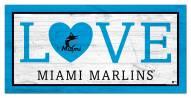 "Miami Marlins 6"" x 12"" Love Sign"