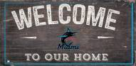 """Miami Marlins 6"""" x 12"""" Welcome Sign"""