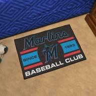 Miami Marlins Baseball Club Starter Rug