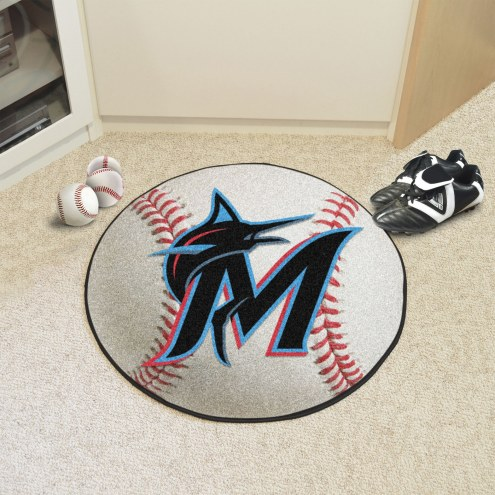 Miami Marlins Baseball Rug