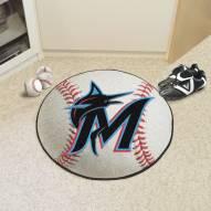 Miami Marlins Baseball Rug