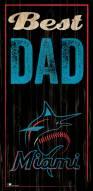 Miami Marlins Best Dad Sign