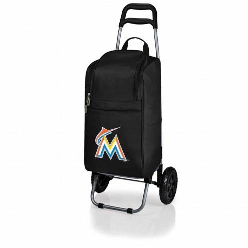Miami Marlins Black Cart Cooler