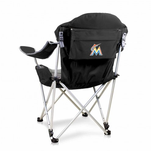 Miami Marlins Black Reclining Camp Chair