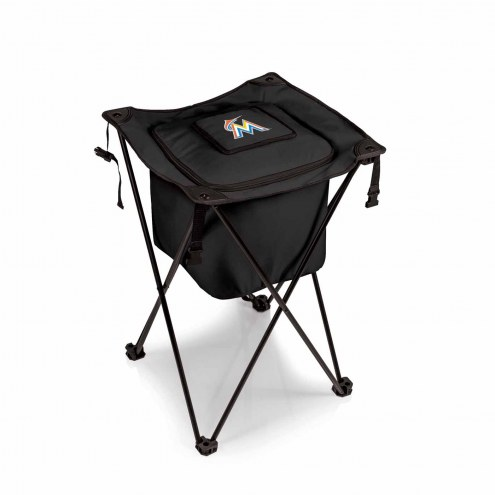 Miami Marlins Black Sidekick Portable Cooler