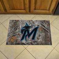 Miami Marlins Camo Scraper Door Mat