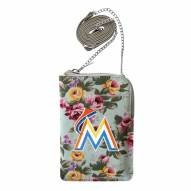 Miami Marlins Canvas Floral Smart Purse