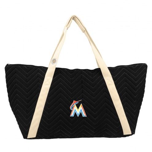 Miami Marlins Chevron Stitch Weekender Bag