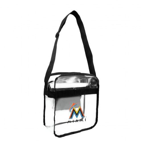 Miami Marlins Clear Crossbody Carry-All Bag