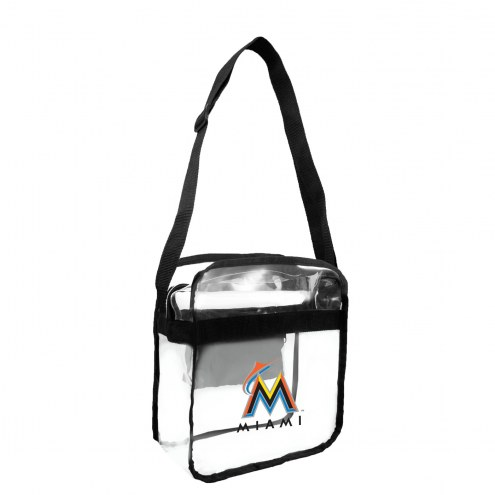 Miami Marlins Clear Crossbody Carry-All Bag