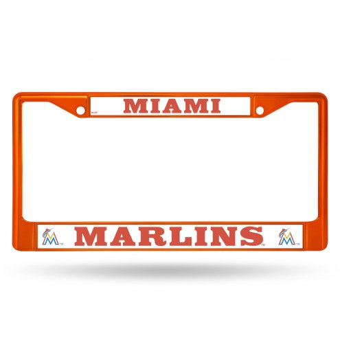 Miami Marlins Colored Chrome License Plate Frame