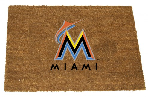 Miami Marlins Colored Logo Door Mat