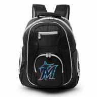 MLB Miami Marlins Colored Trim Premium Laptop Backpack
