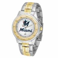Miami Marlins Competitor Two-Tone Men's Watch