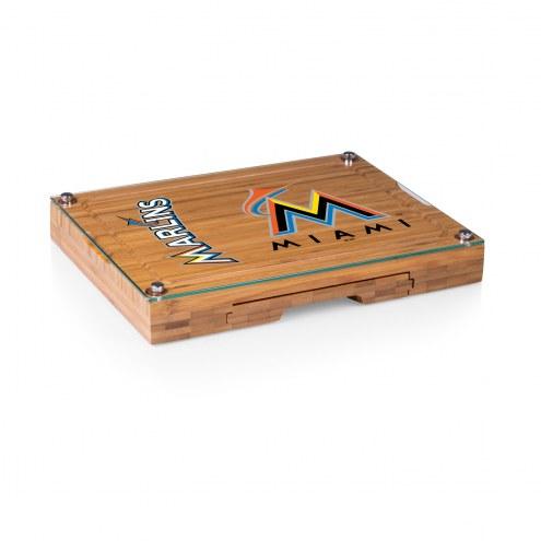 Miami Marlins Concerto Bamboo Cutting Board