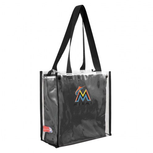 Miami Marlins Convertible Clear Tote