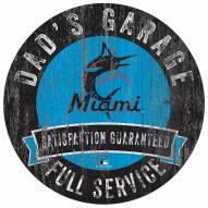 Miami Marlins Dad's Garage Sign