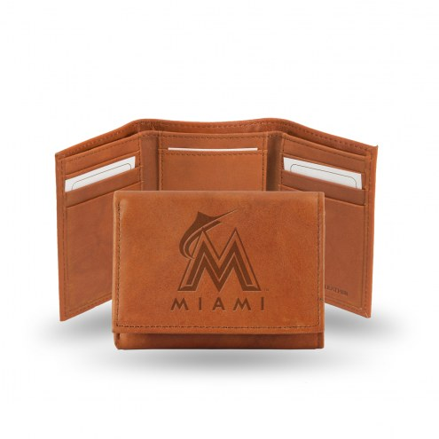 Miami Marlins Embossed Tri-Fold Wallet
