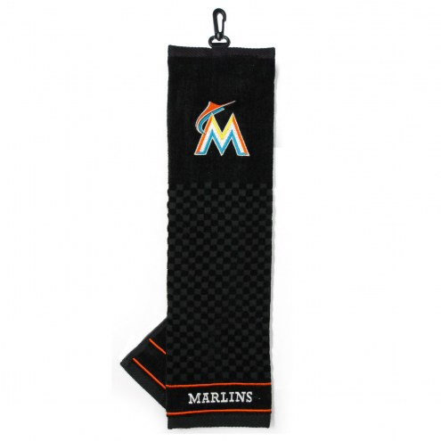 Miami Marlins Embroidered Golf Towel