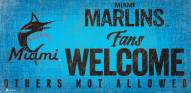 Miami Marlins Fans Welcome Sign