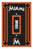 Miami Marlins Glass Single Light Switch Plate Cover