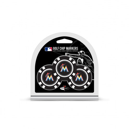 Miami Marlins Golf Chip Ball Markers