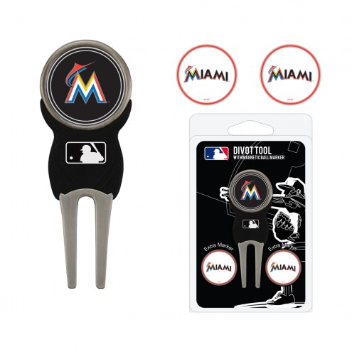 Miami Marlins Golf Divot Tool Pack