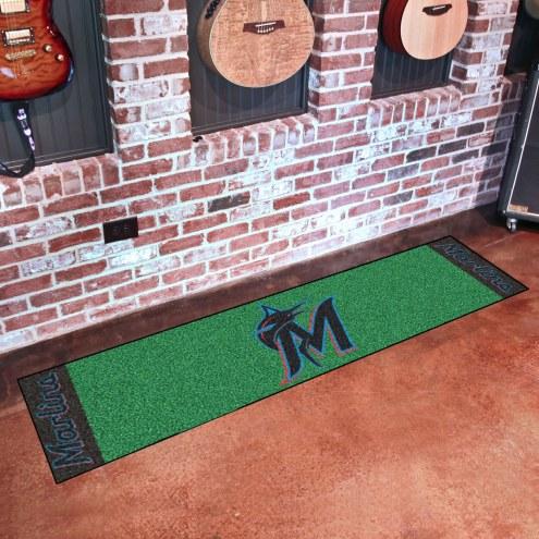 Miami Marlins Golf Putting Green Mat