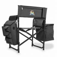 Miami Marlins Gray/Black Fusion Folding Chair