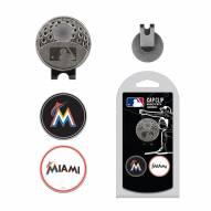 Miami Marlins Hat Clip & Marker Set