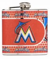 Miami Marlins Hi-Def Stainless Steel Flask