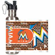 Miami Marlins Hi-Def Stainless Steel Water Bottle