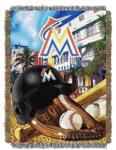 Miami Marlins Home Field Advantage Throw Blanket