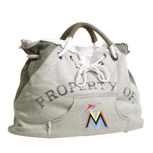 Miami Marlins Hoodie Tote Bag