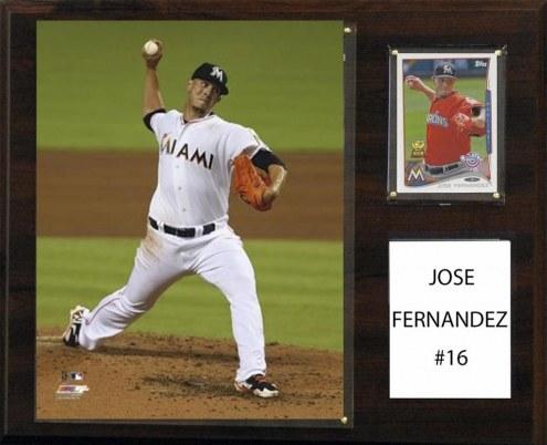 "Miami Marlins Jose Fernandez 12"" x 15"" Player Plaque"