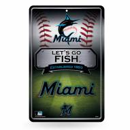 Miami Marlins Large Embossed Metal Wall Sign