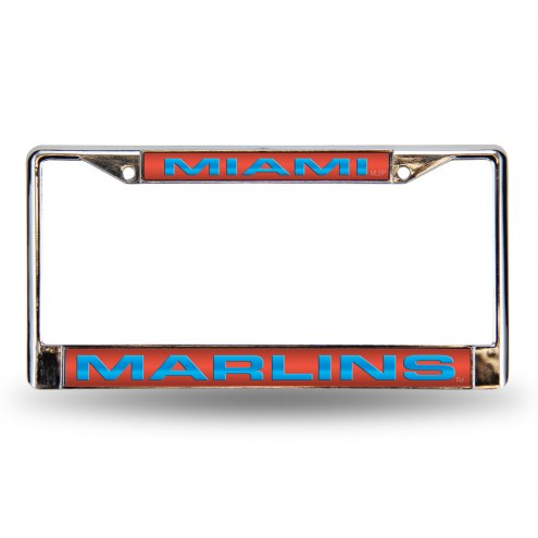 Miami Marlins Laser Chrome License Plate Frame