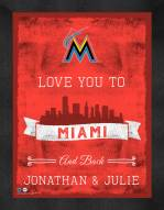Miami Marlins Love You to and Back Framed Print