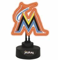 Miami Marlins Team Logo Neon Light