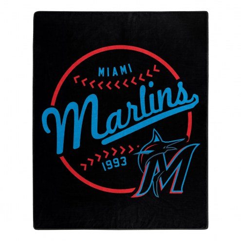 Miami Marlins Moonshot Raschel Throw Blanket