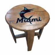 Miami Marlins Oak Barrel Table