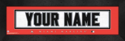 Miami Marlins Personalized Stitched Jersey Print